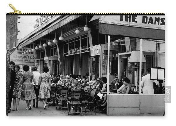 Outside Restaurant La Coupole In Montparnasse, Paris, 1959  Carry-all Pouch
