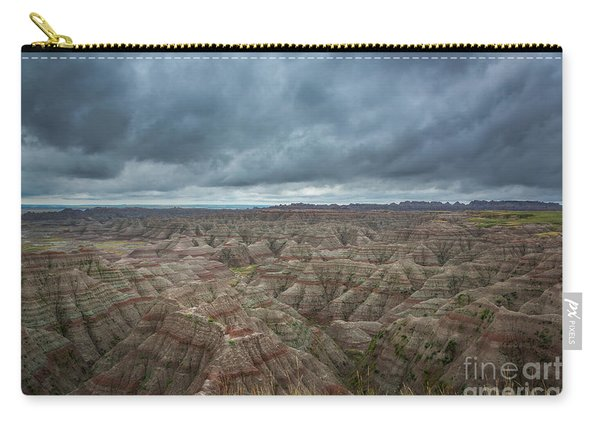 Overlooking The Badlands Carry-all Pouch