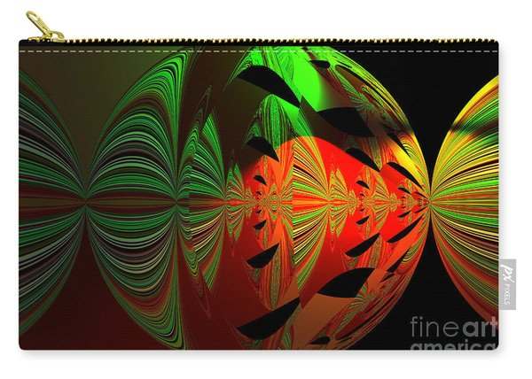 Art Green, Red, Black Carry-all Pouch