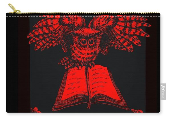 Owl And Friends Redblack Carry-all Pouch