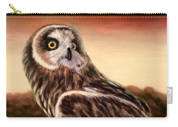 Owl At Sunset Carry-all Pouch