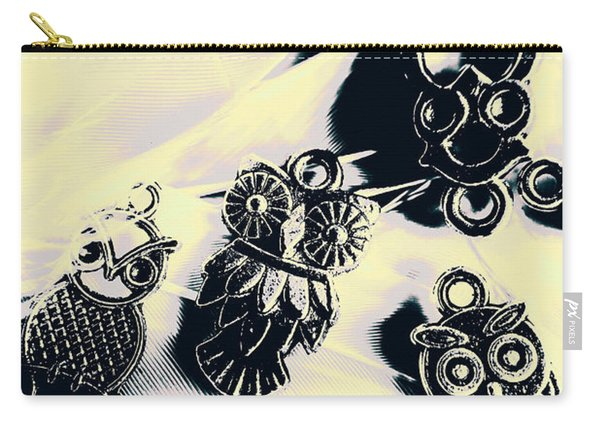 Owls From Blue Yonder Carry-all Pouch