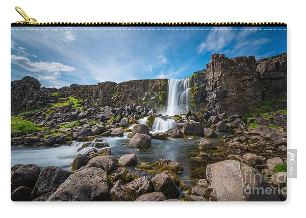 Oxararfoss Waterfall  Carry-all Pouch