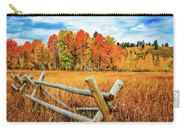 Oxbow Bend Fall Color Carry-all Pouch