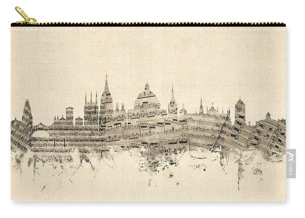 Oxford England Skyline Sheet Music Carry-all Pouch