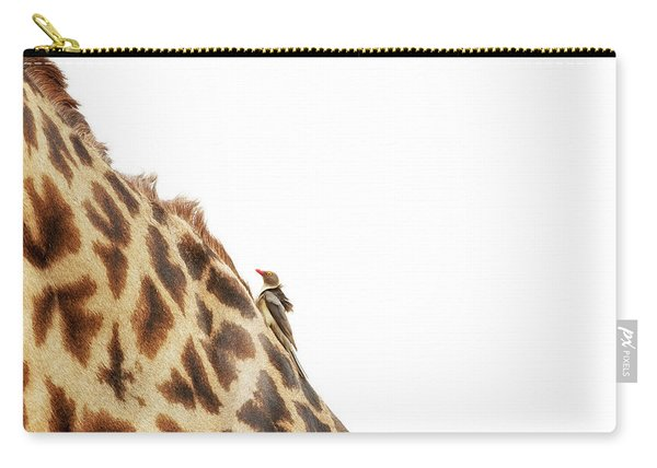 Oxpecker On Giraffe With Copy Space Carry-all Pouch