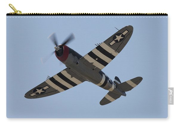 P-47 Invasion Stripes Overhead Carry-all Pouch