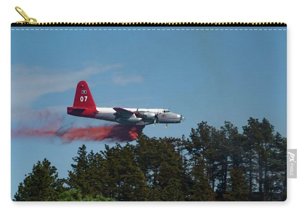 Carry-all Pouch featuring the photograph P2v Red Canyon Fire by Bill Gabbert