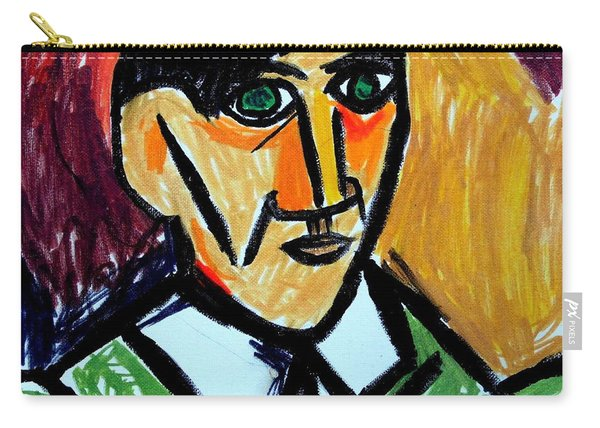Pablo Picasso 1907 Self-portrait Remake Carry-all Pouch