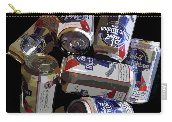 Pabst Blue Ribbon Can Art Carry-all Pouch