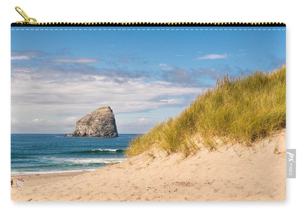 Carry-all Pouch featuring the photograph Pacific Beach Haystack by Michael Hope