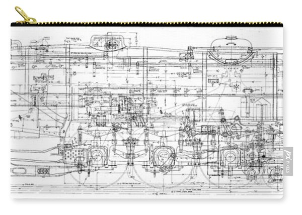 Pacific Locomotive Diagram Carry-all Pouch