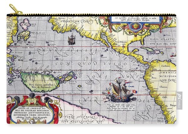 Pacific Ocean Vintage Map Carry-all Pouch