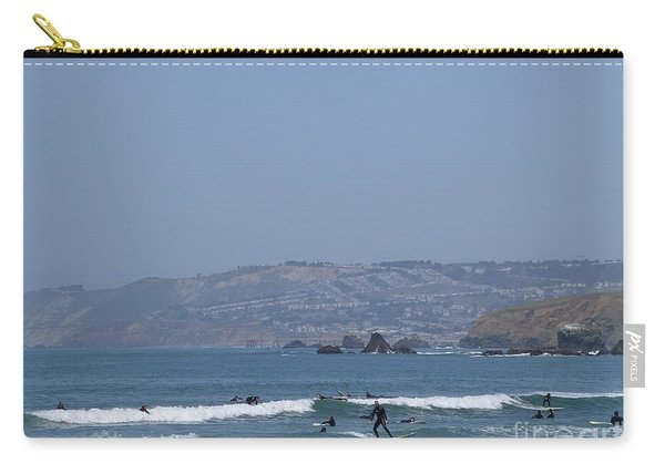 Carry-all Pouch featuring the photograph Pacifica Surfing by Cynthia Marcopulos