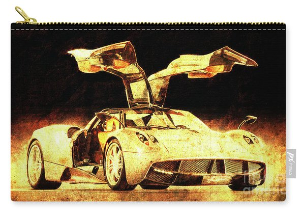 Pagani Huayra Golden Prin For Man Cave Carry-all Pouch