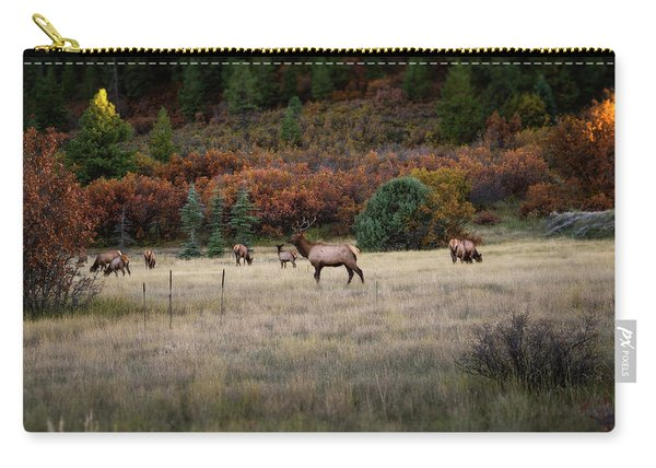 Carry-all Pouch featuring the photograph Pagosa Autumn Elk by Jason Coward