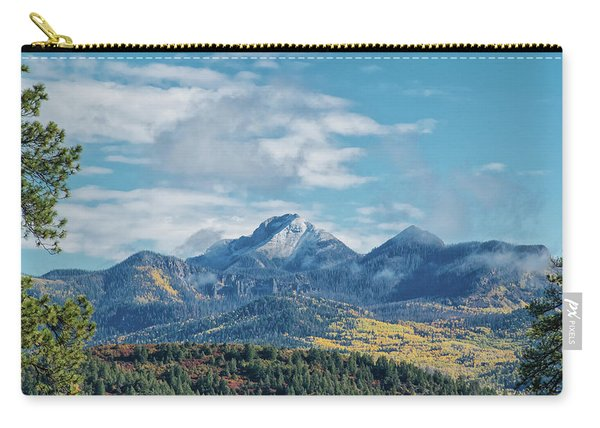 Carry-all Pouch featuring the photograph Pagosa Peak Autumn 2014 by Jason Coward