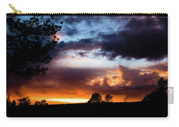 Carry-all Pouch featuring the photograph Pagosa Sunset 11-20-2014 by Jason Coward