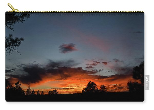 Carry-all Pouch featuring the photograph Pagosa Sunset 11-30-2014 by Jason Coward