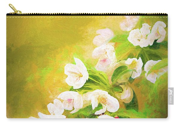 Painted Crabapple Blossoms In The Golden Evening Light Carry-all Pouch