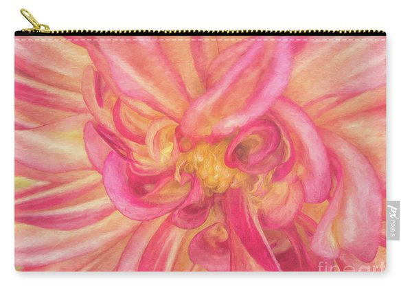 Painted Dahlia Carry-all Pouch