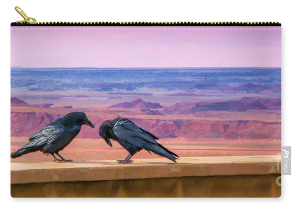 Carry-all Pouch featuring the photograph Painted Desert Pals by Susan Warren