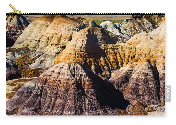 Painted Desert Yellow Bands Carry-all Pouch