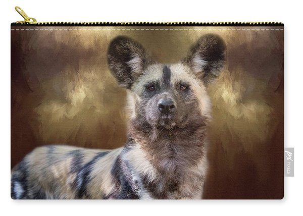 Painted Dog Portrait II Carry-all Pouch