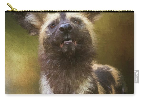 Painted Dog Portrait Carry-all Pouch