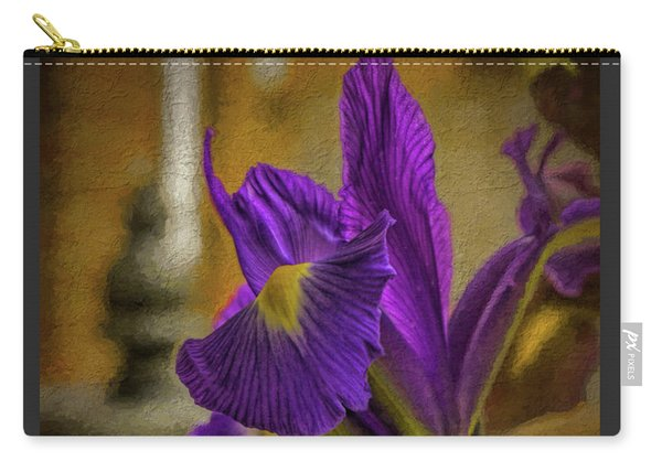 Painted Iris Carry-all Pouch