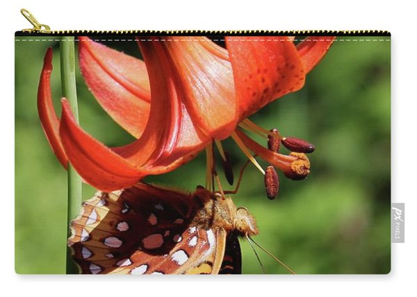 Painted Lady On Lily Carry-all Pouch