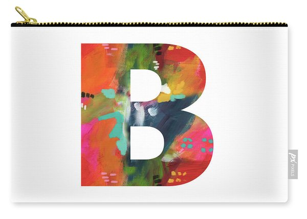 Painted Letter B-monogram Art By Linda Woods Carry-all Pouch