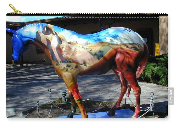 Carry-all Pouch featuring the photograph Painted Pony At Ghost Ranch by Joseph R Luciano
