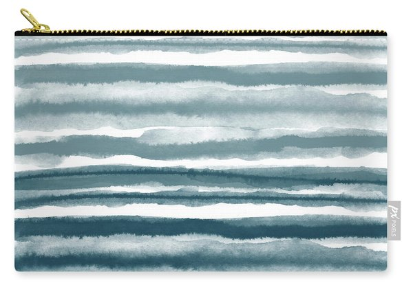 Painterly Beach Stripe 1- Art By Linda Woods Carry-all Pouch