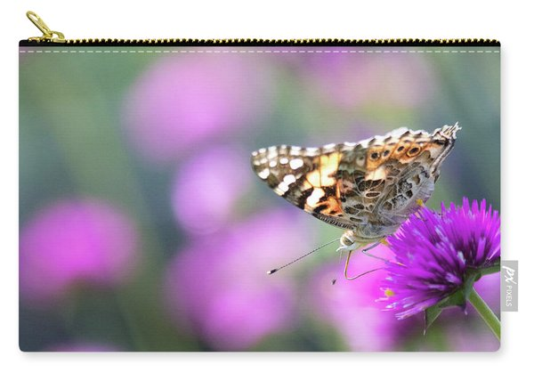 Carry-all Pouch featuring the photograph Painterly Painted Lady 2 by Brian Hale