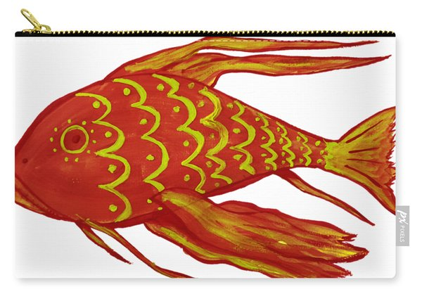 Painting Red Fish Carry-all Pouch