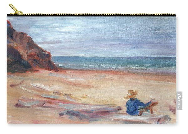 Painting The Coast - Scenic Landscape With Figure Carry-all Pouch