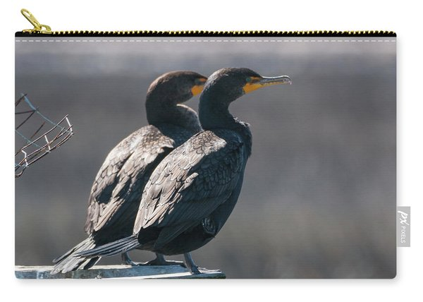 Pair Double-crested Cormorant 3 March 2018 Carry-all Pouch
