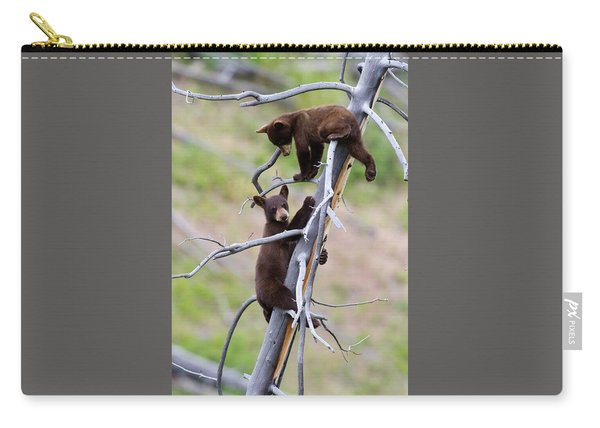 Pair Of Bear Cubs In A Tree Carry-all Pouch