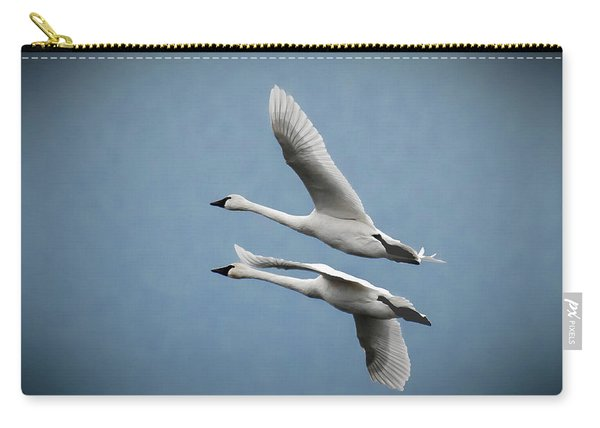 Pair Of Tundra Swan Carry-all Pouch