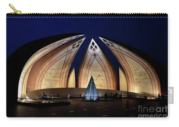 Pakistan Monument Illuminated At Night Islamabad Pakistan Carry-all Pouch