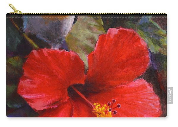 Palila And Hibiscus - Hawaiian Painting Carry-all Pouch