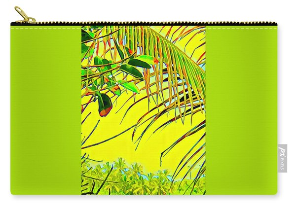 Palm Fragment In Yellow Carry-all Pouch