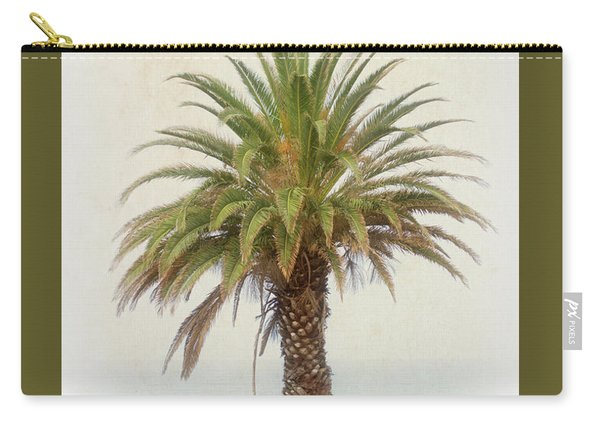 Palm Tree In Coastal California In A Retro Style Carry-all Pouch