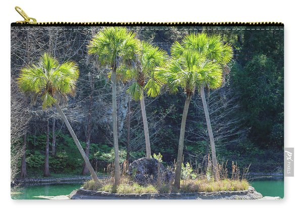 Carry-all Pouch featuring the photograph Palm Tree Island by Raphael Lopez