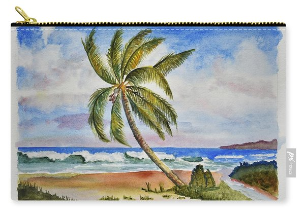 Palm Tree Ocean Scene Carry-all Pouch
