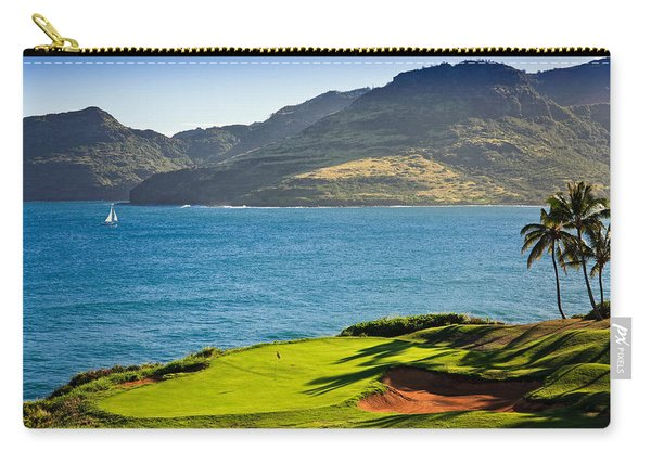 Palm Trees In A Golf Course, Kauai Carry-all Pouch