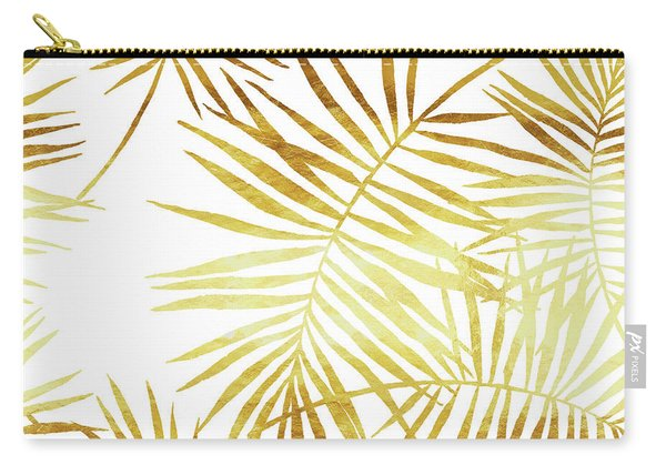 Palmes Dor Golden Palm Fronds And Leaves Carry-all Pouch
