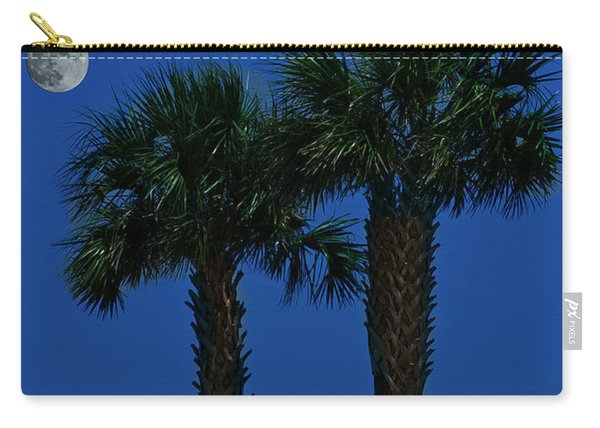 Palms And Moon At Morse Park Carry-all Pouch