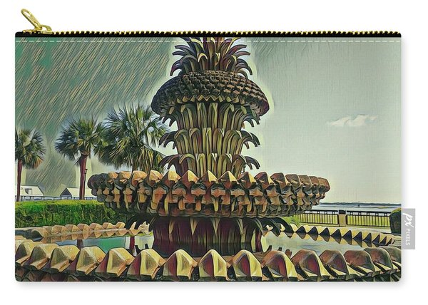 Palms And Pineapples Carry-all Pouch